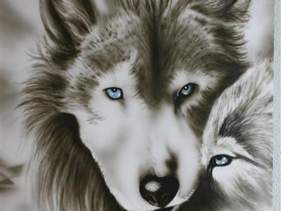 wolf airbrush tattoo