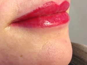 Lip tattoo m.b.v. permanente make-up bij Tattoo Bob Rotterdam