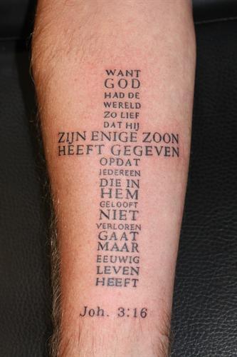 Tattoo Op De Onderarm